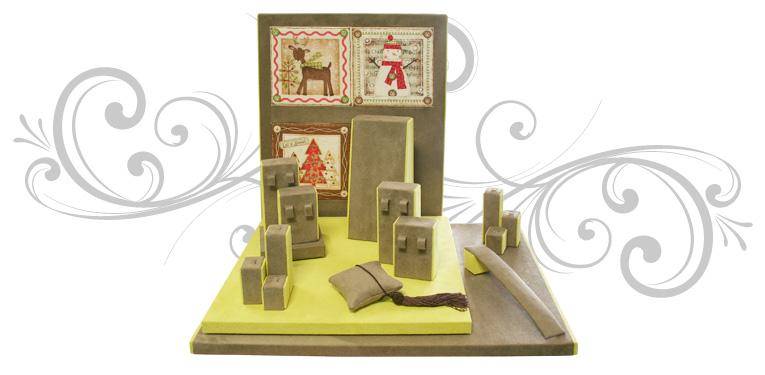 Escaparate para exponer joyas, decorado para navidad
