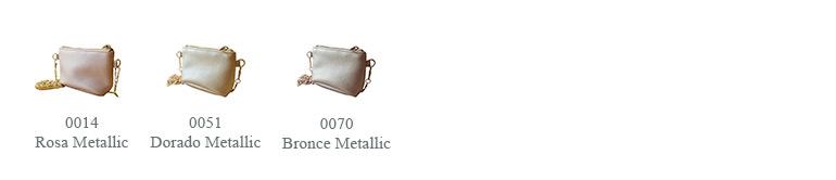 0014 Rosa Metallic, 0051 Dorado Metallic, 0070 Bronce Metallic
