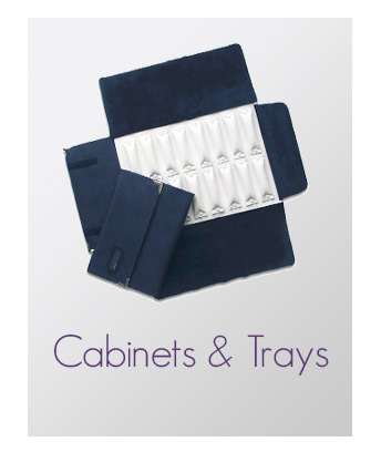 Cabinets and trays for jewellery