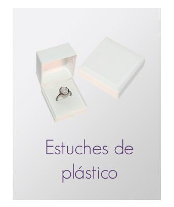 Estuches de plástico para joyería